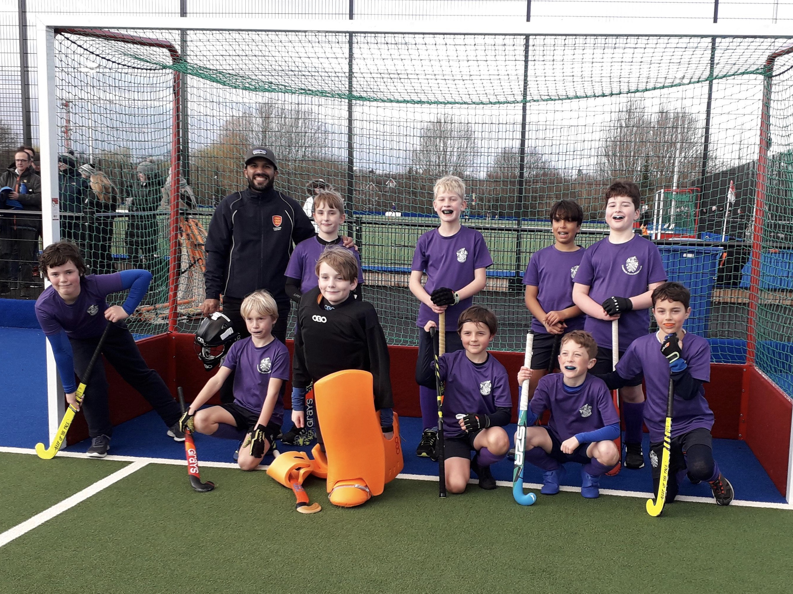 South's triumphant Boys' U10s after a great day's hockey